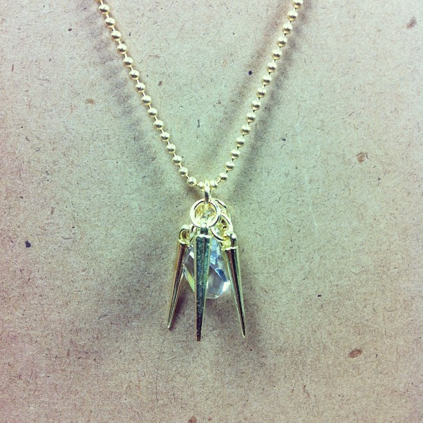 Spikes + Crystal Necklace
