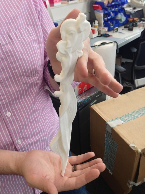 3D print of an olympic high dive. Check out more here Thanks to NYT R&D and Shapeways