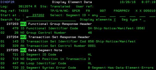 cleo extol integrator FA 997 EEI EDI display element data