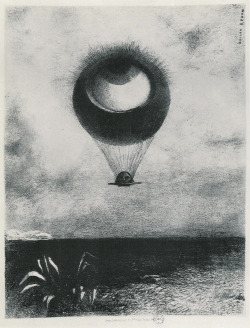 The Eye Like a Strange Balloon Mounts Towards Infinity (1995), Odilon Redon