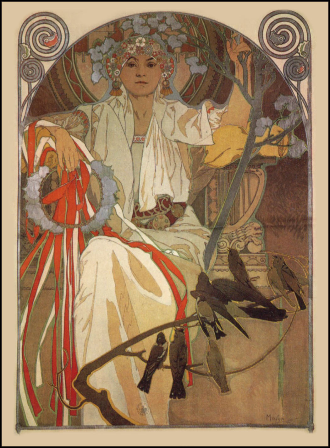 muchastyle:  Poster for The Spring Festival of Song & Music in Prague (1914).