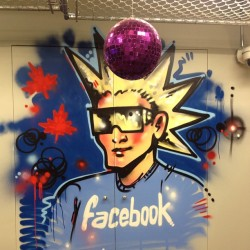 Facebook Canada reception graffiti. #facebook #Toronto #graffiti (at Facebook Toronto Head Office)