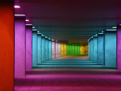 Rainbow Hallway at the Netherlands Architecture Institute by Ronald Bellekom
