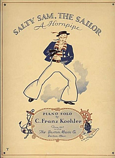 """ Salty Sam, The Sailor ""  ….  Sheet Music [Circa 1937]"
