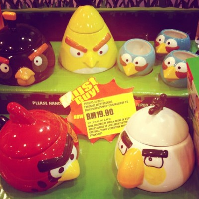 #angrybirds mugs, can imagine people hurling them trough the air on bad mornings.