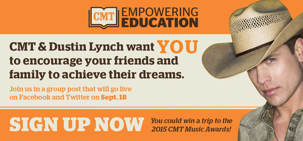See how CMT & Dustin Lynch can help YOU achieve your dreams! #TakeTheFirstStep today: http://thndr.it/1nKcbu1
