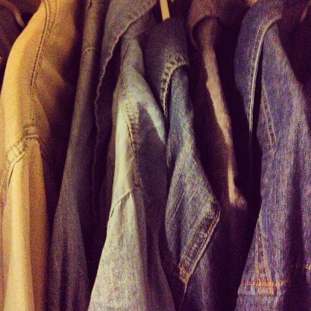 How many denim shirts is too many denim shirts? (I have three more in my laundry basket) #chambrayallday #denimdenimdenim #denim #chambray #shirts