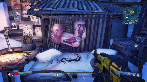 i knew i was gonna love this game when i saw the claptrap bikini babes and stained sheets…
