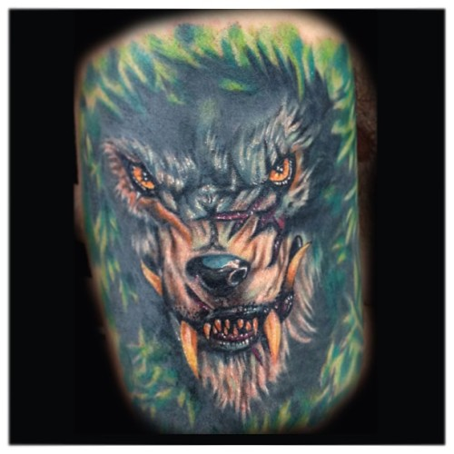 First session on this werewolf, did this about a year ago, found the photo and thought I'd share :) @tats_gram