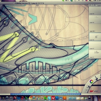 Today at work#render#footwear#hot#hiker#sketch#rendering#design#designer#outdoor#sketchbookpro#work#