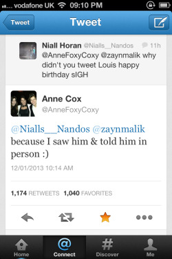 Harry's mum tweeted me this yes!