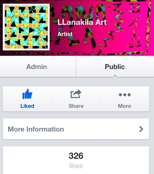 Thanks to everyone who has liked my art page on FB. It means a lot to me. I love what I do. And I hope you all follow your dreams because anything is possible if you let it.