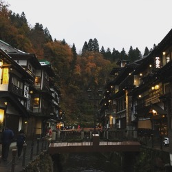 Photos of Ginzan Onsen, an old silver mining town-turned hot spring village: http://www.spoon-tamago.com/2016/11/18/ginzan-onsen-an-old-silver-mine-now-a-magical-mountainous-hot-spring-village/
