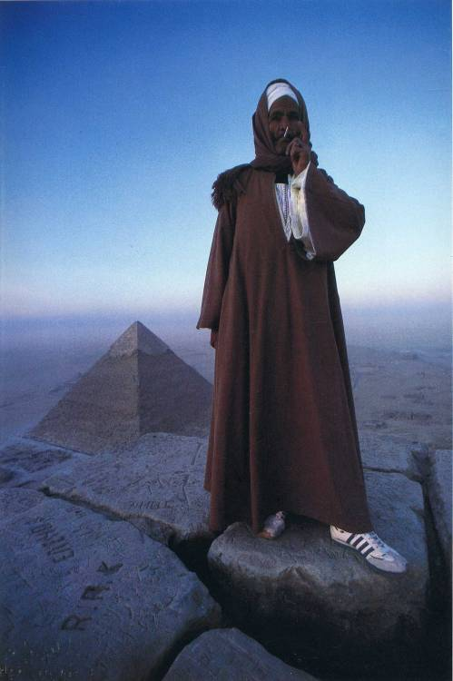 tekorova:  anotherafrica:  SYMBOLS & MYSTICISM # 8 Holy smokes, fake adidas and pyramid. Dusk scapes by National Geographic.  Like i give a fuck