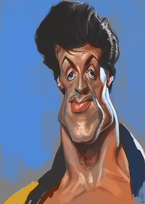 [ Sly Stallone ] - artist: Alberto Russo - website: http://stingarea.blogspot.com/
