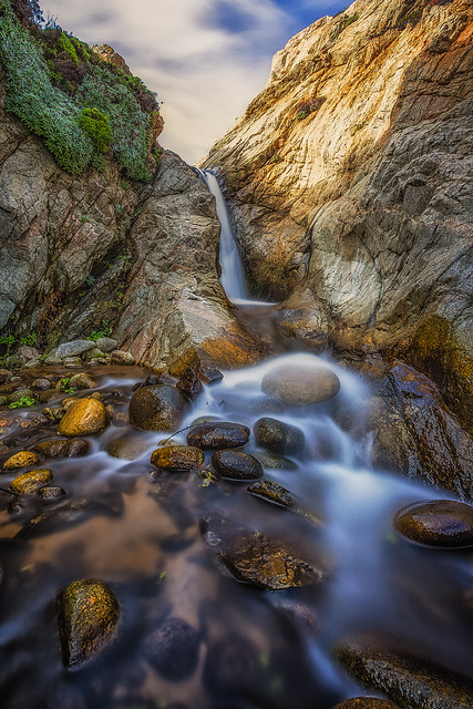 Garrapata Waterfall on Flickr.Via Flickr:Website | facebook | Google+ | Blog | Stipple