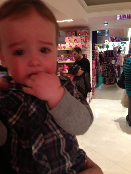 reasonsmysoniscrying:  He's in the largest toy store on the planet.  I'm a science teacher living in NYC. I want to find your son and give him one of my paper robots I use in the classroom. Would that make him cry, too?