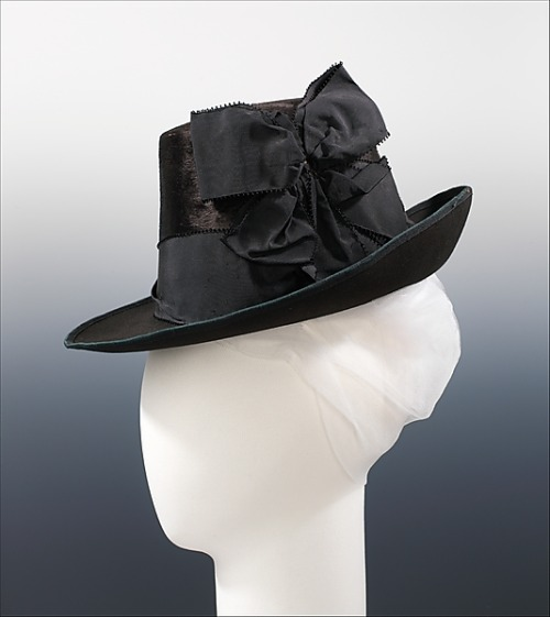 ceruleancynic:  omgthatdress:  Fedora 1885 The Metropolitan Museum of Art Fun fact!  The fedora was originally a woman's hat.  The legendary Victorian actress Sarah Bernhardt first wore the hat in a play called Fédora where she played the role of Princess Fédora.  The hat was immediately a hit, and soon fashionable ladies everywhere were wearing Fédora hats.  It wasn't until later in the 20th century that the style made its way onto men's heads. Something to keep in mind every time you see some douchebag MRA in a fedora complaining about how bitches never date nice guys like him.  *strong silent satisfaction*  The best kind of hat! I feel a sudden urge to go acquire more!Hurry up and get nicer weather, I MISS MY HATS!