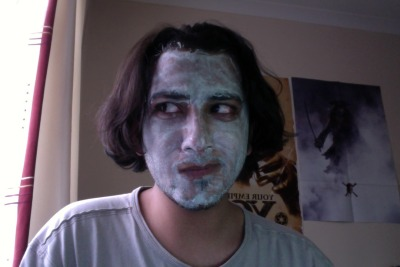 Don't mind me, just working from home. With a cucumber face mask.