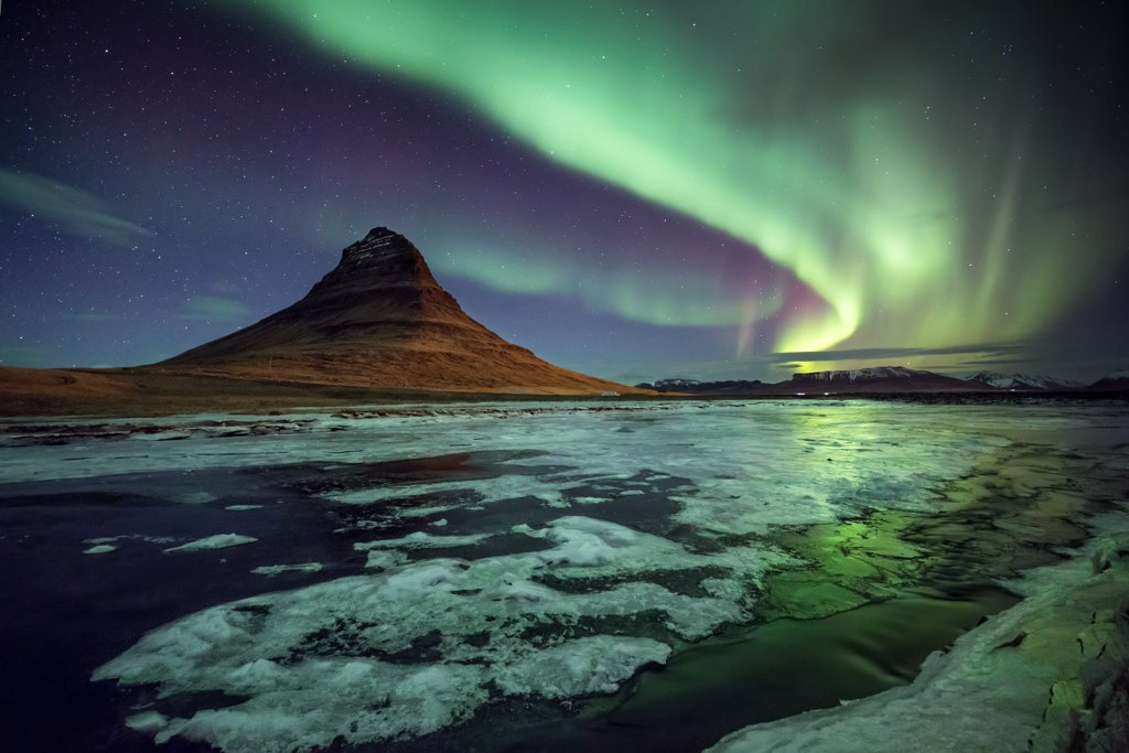Kirkjufell mountain, Iceland (by Eggles)