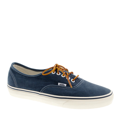 Vans for J. Crew washed canvas sneakers.