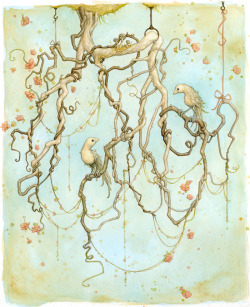 Hanging Garden, 2012 Watercolor, gouache and pencil on paper