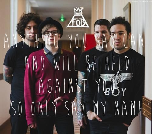 Fall out boy | via Facebook on @weheartit.com - http://whrt.it/15b5exc