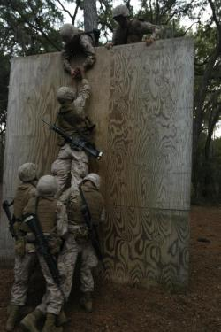 lancecpl:  ooorahhbitchess:  Recruits of Kilo Company, 3rd Recruit Training Battalion, use teamwork to climb over a wall during the Crucible on Dec. 6 on Parris Island, S.C. The recruits worked together to come up with a strategy to overcome the challenge known as Kraft's Struggle. Kilo Company is scheduled to graduate Dec. 14.  Team work