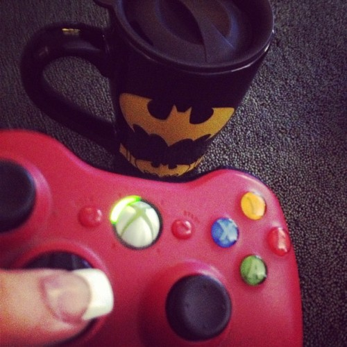 Good morning #batman #xbox #coffee