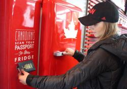 canada olympics team canada molson canadian THE beer fridge i don't even like beer but i love my country