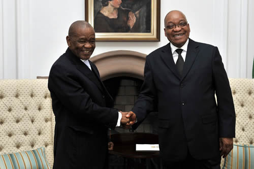 "South Africa President Jacob Zuma met and held discussions Monday with Lesotho Prime Minister, Thomas Thabane, in an effort to promote the African Agenda and strengthen bilateral relations between the two countries.  ""Bilateral cooperation between South Africa and Lesotho spans a wide range of areas including, but not limited to, trade and investment, security, energy, transport, agriculture, tourism, water and environment,"" the Presidency said in a statement on Monday. The Presidency said the two leaders reaffirmed the historical and cultural relations that exist between the two sisterly countries. ""They committed themselves to working together in the implementation of the joint projects in the areas of water, energy and tourism,"" the Presidency said. South Africa recently hosted the Joint Bilateral Commission for Cooperation (JBCC) with Lesotho, where wide ranging bilateral, regional and international issues were discussed."