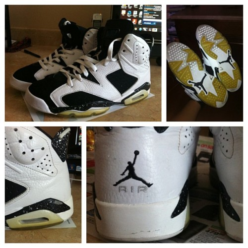 ricecookinswag:  Restoration project on my Oreos BOIII. #Jordans #SundayFunday #SNKRHD
