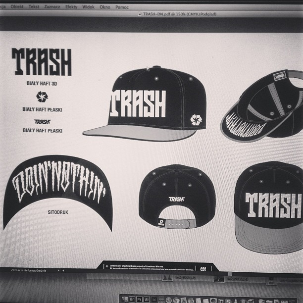 #trash #trashlife #doinnothin  #handmade #letters #graphic #design #aaaghr #snapback #inprocess