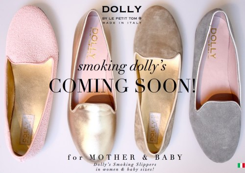 Smoking Dolly's COMING SOON! Smoking slippers, loafers, ladies slippers..    Smoking Dolly's COMING SOON!These comfortable classics loafer flats are the hottest trend for everyday wear, office and party and will stay popular for years to come like ballerina's!DOLLY by Le Petit Tom ® designed them for you including a detachable shoe clip and matching baby sizes as well!Of course all handmade in Italy… stay tuned!