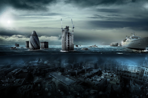 ryanpanos:  London Underwater by Alexander Koshelkov