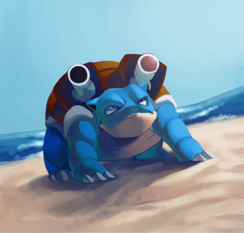 alternativepokemonart:  Artist Blastoise by request.