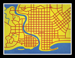 The Simpsons. Springfield via City Prints. Pop Culture.