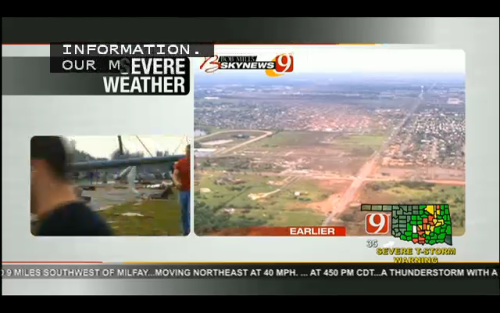 emmtotheatt:  Path the tornado took. Many homes and including two elementary schools leveled.  VERY Sad to hear.