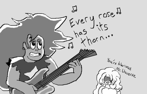 steven universe every rose has its thorn you& 039;re hilarious mr. universe su I can& 039;t believe I drew this on paint I was too impatient to get the joke out to dig out my usual tablet computer or download a program