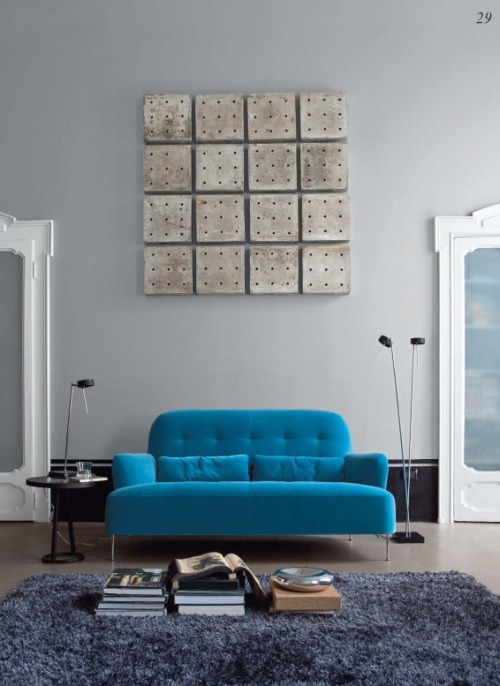 homedesigning:  The Blue Couch