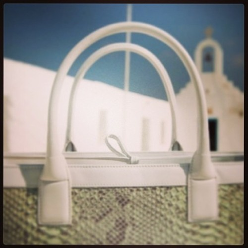 Pistachio-hued (python!) dreams on #mykonos with @dearosaitaly. Eyes on #LFW but I have sights on a sublime #ss13 soonest.