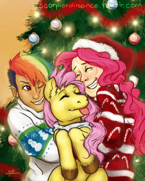 cartoonyworld:  scorpiordinance:  Holiday Commission for Cartoon Lion [Edit: Minor fix]  This turned out wonderfully! Everyone should totes check this dude out, he does great work! <3