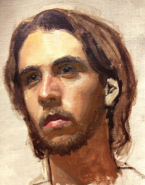 pointa-patb:  3 hour portrait sketch… oil on canvas    audweelikesbrownies::SO AMAZING!!! Looks just like him!