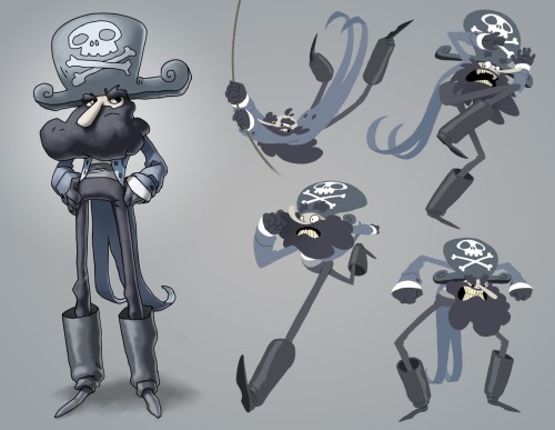 Some pose/expression explorations for my sea captain character, designed for Jake Parker's class