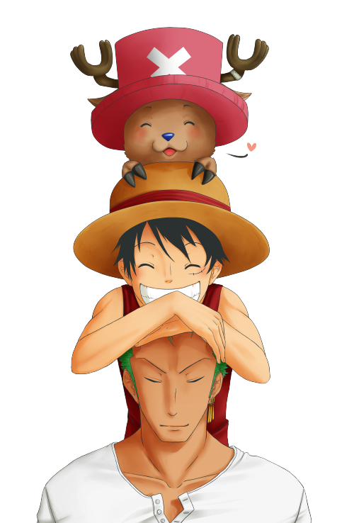 Chopper, Luffy and Zoro :3 This is my entry for a book that will be printed and sent to Odacchi :3 I hope he receives it! It would be awesome :D