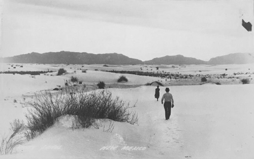 new mexico white sands 1900s