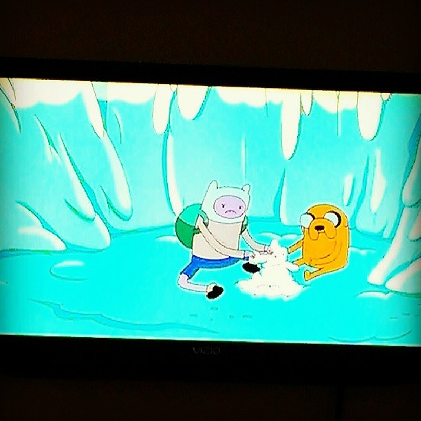 Just spending the afternoon with my bffs, Jake & Finn.  Don't hate.  #adventuretime #jakethedog #finnthehuman #lazy #saturday #inbed