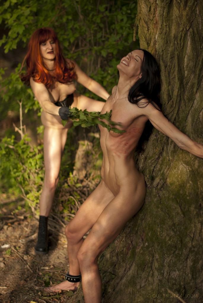Outdoor Lesbian Bondage-7626