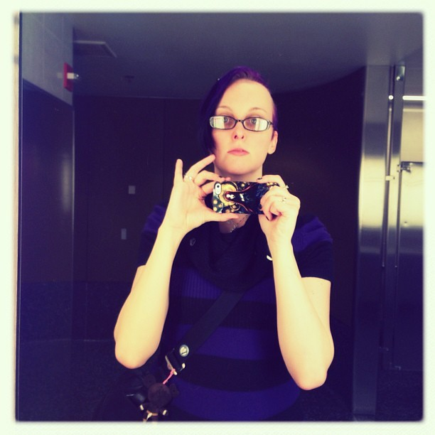 Moose in headlights. #me #selfport #bathroomritual #goinghome
