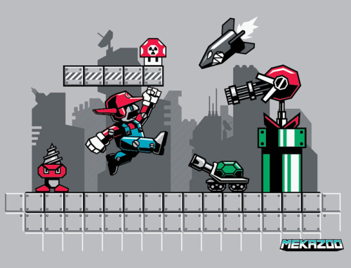 mekazoo submitted: MECHA MARIO by MEKAZOO is now available on tees and hoodies at REDBUBBLE !!! Stay in touch chief! MEKAZOO FACEBOOK